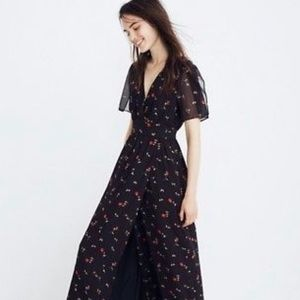 Tulip sleeve maxi dress